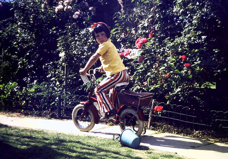 Riding my first bicycle