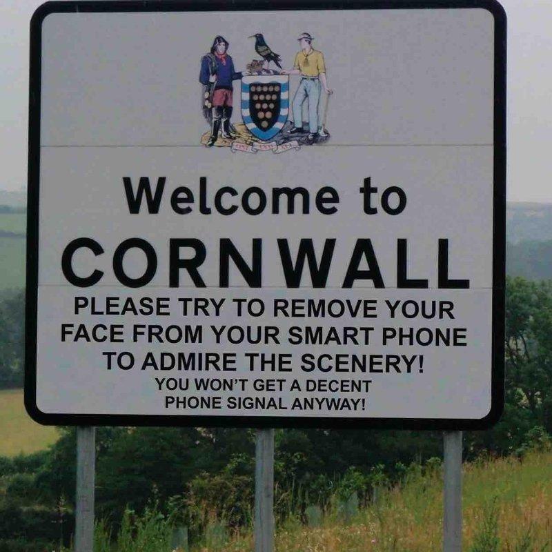 cornwall roadsign