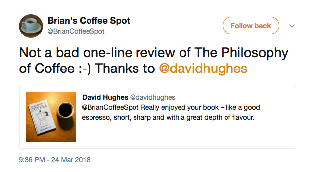 one line book review on Twitter